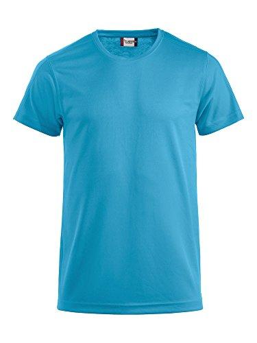 Herren Funktions T-Shirt aus Polyester von CLIQUE. Das T-Shirt für den Sport, perforiert und feuchtigkeitsabführend in Hellblau, Grösse L