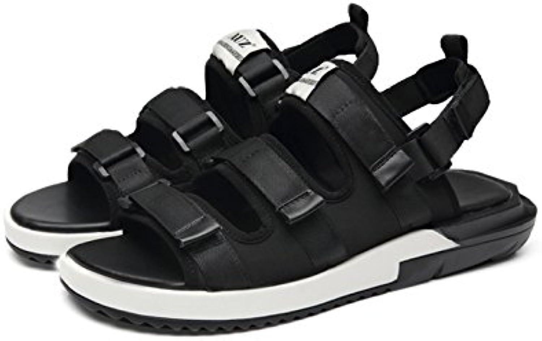 WKNBEU Men's Sandalen Sommer 2018 Neue Koreanische Version Der Flut Velcro Männer Sport Strand Sandalen Vietnam