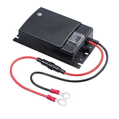 AUTOUTLET Marderschreck Auto, Ultraschall Töne Marderabwehr Marderschutz KFZ Zubehör, Anschluss an 12V Autobatterie, mit LED Blitzlichtfunktion