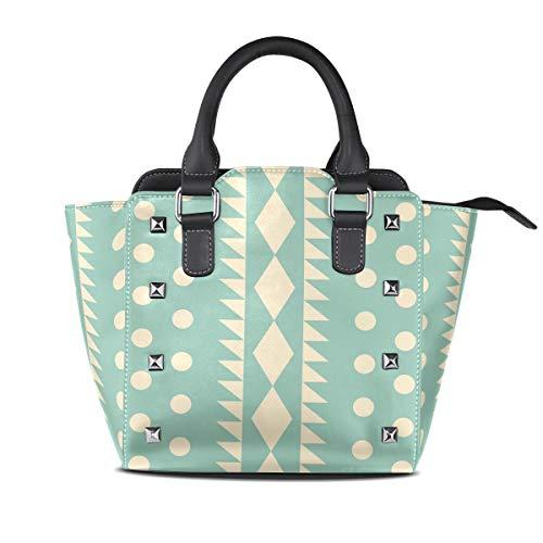 MALPLENA Malpela Schulter-Handtasche mit geometrischem Muster, geometrisches Muster