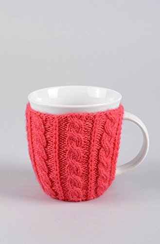 Tasse pull tricot rouge fait main Mug the Vaisselle moderne Cadeau cuisine
