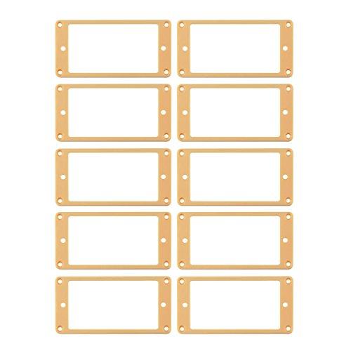 IKN Electric Gitarre Pickup flach Rahmen Montage Ringe Sets 10set,bridge+neck cremefarben