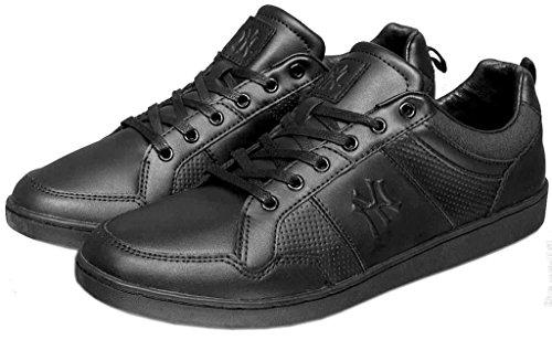 New York Yankees Fulcane Noir Hommes Cuir Sneakers Chaussures