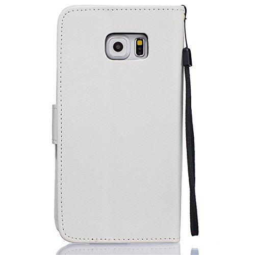 sibaina Étui pour téléphone portable Samsung Galaxy, étui à rabat en cuir PU pour Samsung Galaxy S6S6Edge Plus S7Plus, Cuir synthétique Cuir, vert, For Iphone6 6s plus argent