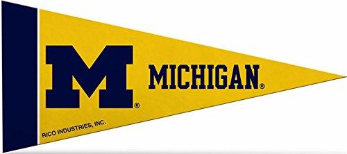 Offizielles Lizenzprodukt 8Stück Universität von Michigan Wolverines NCAA Mini Pennants, 10,2x (Dekorationen Wolverine Party)