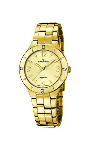 Candino - C4572/2 - Montre Femme - Quartz - Analogique - Bracelet Acier inoxydable doré