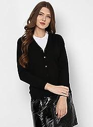 Monte Carlo Womens Wool Cardigan (1170710VN-118-42_Black)