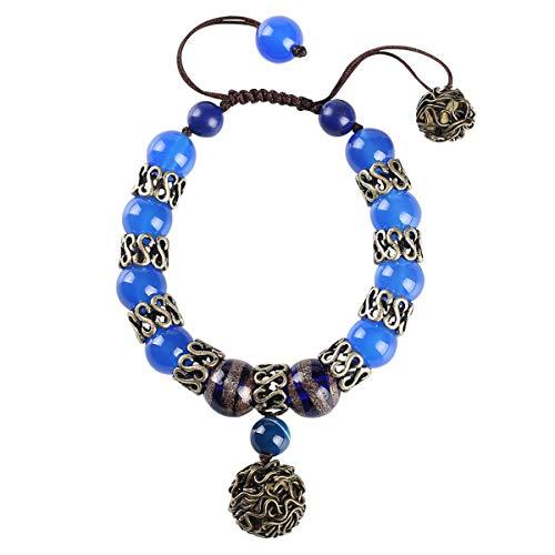 WFYJY-Minimalistische Hand-Kette Folk-Stil Antiken Achat Dekorative String Accessoires Personalisierte Geschenke Hand-Ornamente.