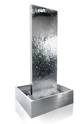 180cm Wasserwand aus Edelstahl inklusive Edelstahlreservoir