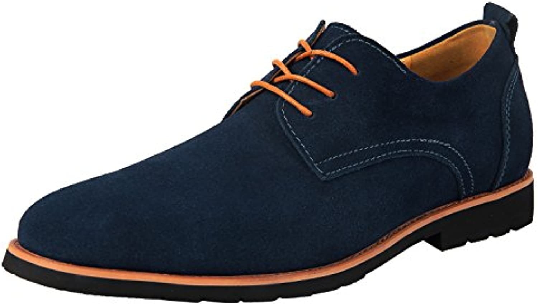 iLoveSIA Herren Schnürhalbschuhe  Mehrfarbig   Blau   Größe: 43