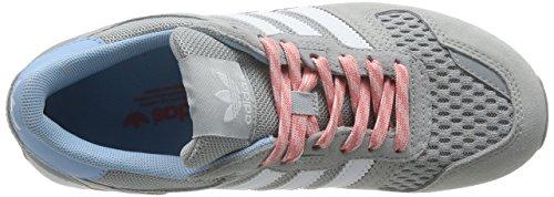 adidas Zx 00, Scarpe da Ginnastica Basse Donna Grigio (Light Granite/Ftwr White/Peach Pink F15-St)