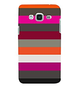 horizontal stripped multicoloured pattern 3D Hard Polycarbonate Designer Back Case Cover for Samsung Galaxy J2 (2016)