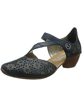 Rieker - 43788 Women Closed-toe, Scarpe col tacco Donna