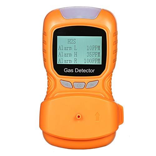 AKAKKSKY Gasmelder O2, CO, H2S, UEG Messgerät überwachen USB Aufladen Sound Light Vibrationsalarme Hochempfindlicher Sensor Daten können gespeichert Werden,Orange -