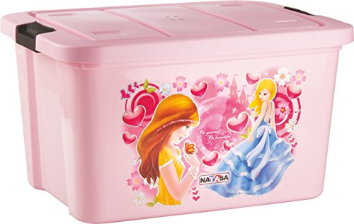 Nayasa Plastic Toy Box, Pink