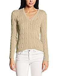 Polo Ralph Lauren Damen Pullover Kimberly PP LS SWT Beige (Natural B1H16) X-Small