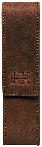 Preisvergleich Produktbild Elbleder Schreibgeräteetui für 2 Stifte Leder braun vintage bh 09