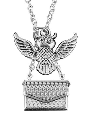 Harry Potter Owl Pendant Post Envelop Bronze Unisex Necklace with Letter | Harry Potter Movie Merchandise
