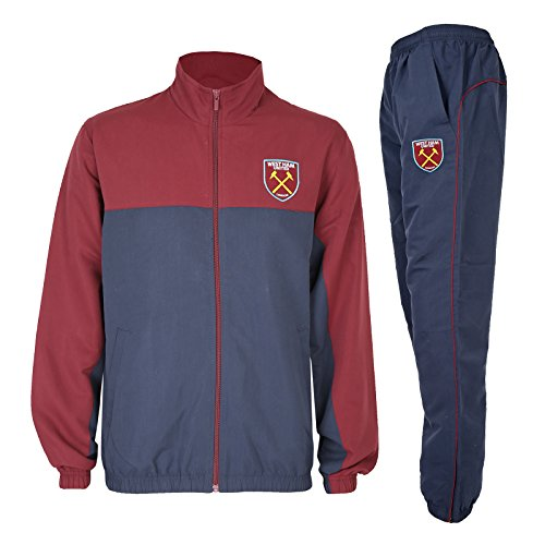 West Ham United FC officiel - Lot veste et pantalon de survêtement thème football - homme - Bleu marine - M