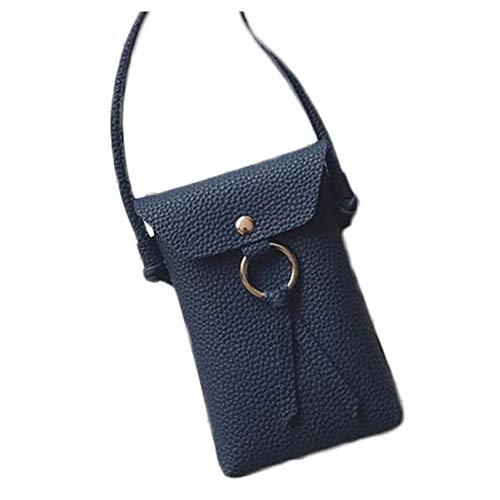 Outflower Sac à bandoulière pour femme tendance sac pour téléphone portable, sac à main, porte-monnaie 11*17*3cm bleu