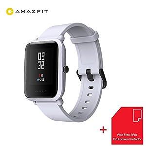 Xiaomi Amazfit Bip Smartwatch Reloj Inteligente 45 Días en Espera Bluetooth con GPS Monitor de Ritmo Cardíaco en Tiempo Real Resistente al Agua Sports Fitness Tracker Ligero 32G IP68 Impermeable Soporte iOS y Android para Niños Hombres Mujeres [Global Versión] (Gris)