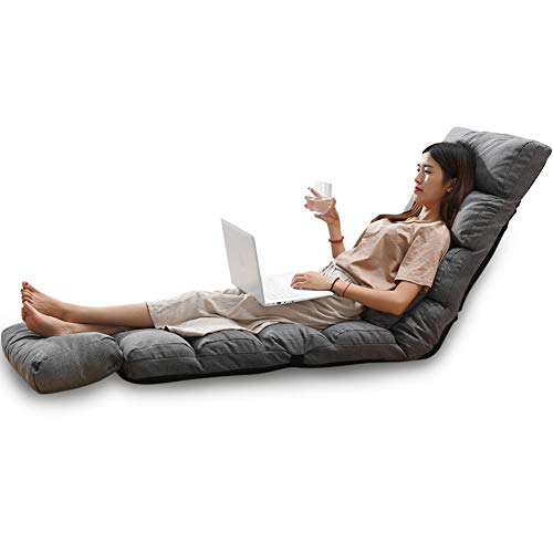 HOMRanger Faltbare Bodenstuhl Abnehmbare Waschbare Gepolsterte Faule Couch Tatami Mit Verstellbarer Rückenlehne Tv Watching Oder Gaming-n 205x55cm(81x22inch)