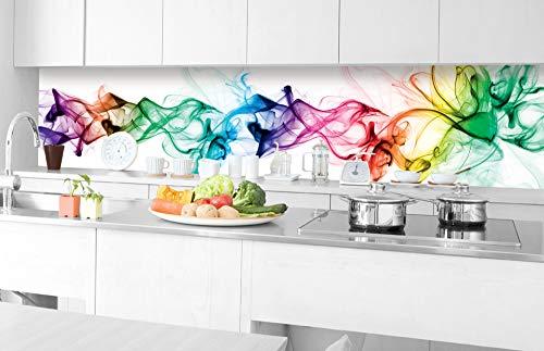 DIMEX LINE Küchenrückwand Folie selbstklebend Rauch 350 x 60 cm | Klebefolie - Dekofolie - Spritzschutz für Küche | Premium QUALITÄT