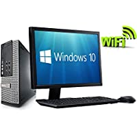 "Complete set of 21.5"" Monitor and Dell OptiPlex Quad Core i5-2400 8GB 1000GB WiFi Windows 10 64-Bit Desktop PC Computer (Certified Refurbished)"