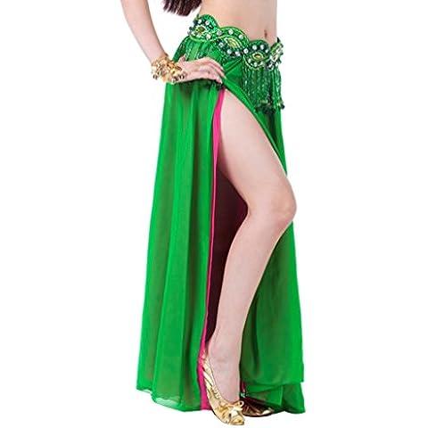 YouPue Ropa de satén de danza del vientre falda para las damas Dancewear de danza del vientre falda