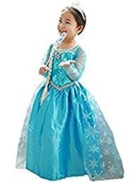 Vestido Niñas Disfraz ANNA ELSA Frozen