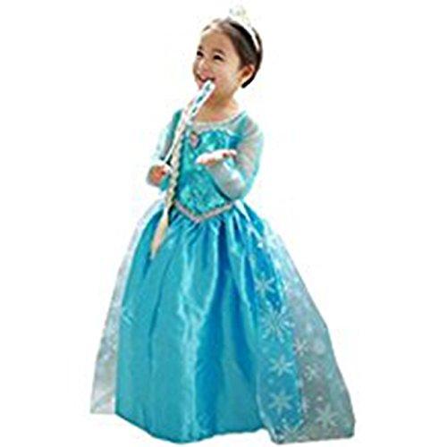Imagen de disfraz elsa frozen con varita y corona 120 4 5 años