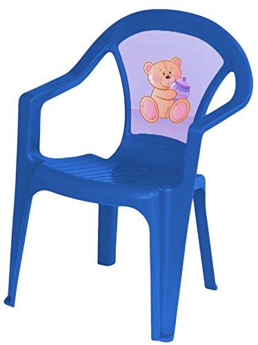 studio four - Kindergartenstuhl Hochlehner mit Motiv, 32x38x52 cm, Blau