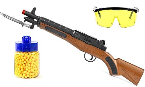 Nerd Clear Kugel Airsoft Gewehr Karabiner ab 3 Jahre + Kugeln 500 + Schutzbrille