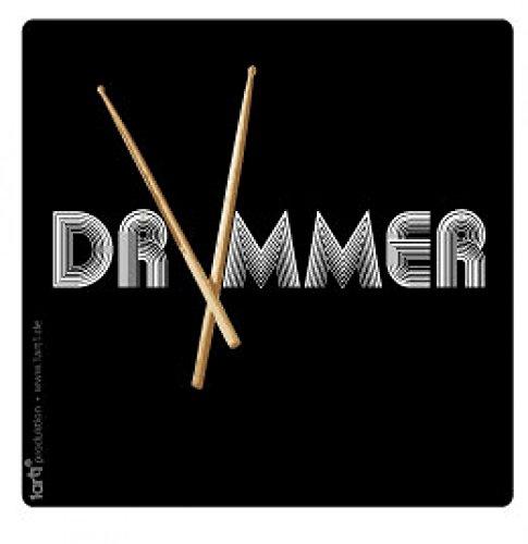 Band, Drummer Poster-Sticker Tattoo Aufkleber 9 x 9 cm ()