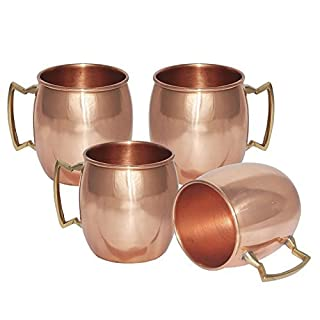 AVS STORE Solide reines Kupfer Moscow Mule Becher Messing Griff (4)