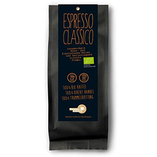 Benslips Bio Kaffee   Espresso Classico   Gemahlen Filterkaffee 250g   FAIR TRADE - Kaffeebohnen Manufakturröstung in Kleinstchargen
