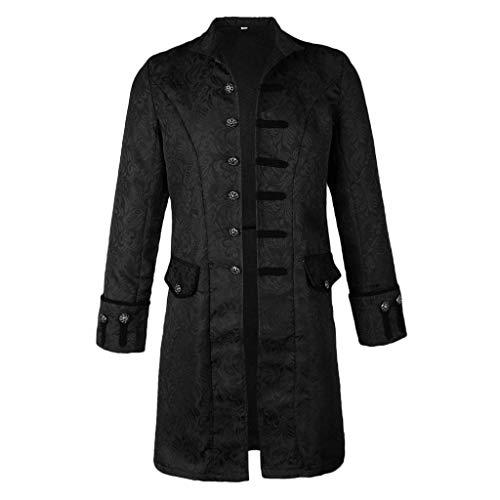 Tubayia Herren Steampunk Jacke Vintage Gothic Viktorianischen Gehrock Uniform Kostüm für Halloween Cosplay Party
