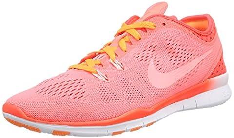 Nike Free 5.0 Tr Fit 5 Breathe Damen Hallenschuhe, Rot (Lava Glow/White-Bright Crimson-Bright), 37.5 (Nike Free Trainer Rot)