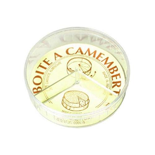 Les Colis Noirs LCN - Boite a Camembert 11cm PVC - Conservation Fromage - 260