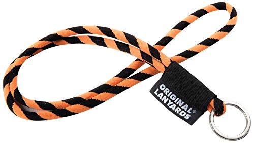 Original Lanyards Leis Label Schlüsselanhänger Bunt Schwarz/Orange