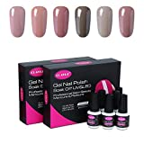 UV nagellack von Clavuz gel shellac set nagellack nail polish set soak off gel Nude (6xStück 8ML)