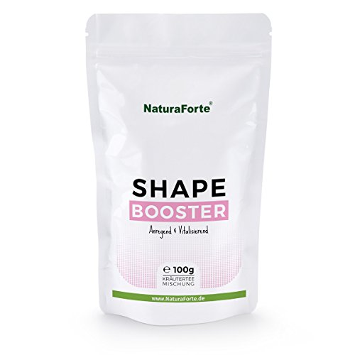 NaturaForte Shape Booster F-Burn Tee 100g, Anregende Ergänzung für Diät- und Abnehm-Ziele, Loser Kräutertee, Mit Oolong, Maté, Lemongras und Brennnessel, u.v.m, Made in Germany