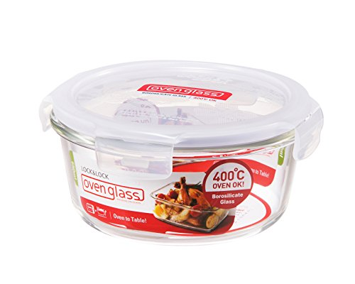 Lock & Lock Ovenglass Round Container - Clear, 650 ml