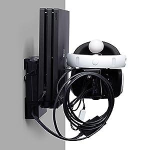 Sony VR Mount – Wandhalterung für Sony Playstation VR, 2 Move Controller, PS4 Pro, Stromversorgung, VR Control Center, Kabel und Lüfter.