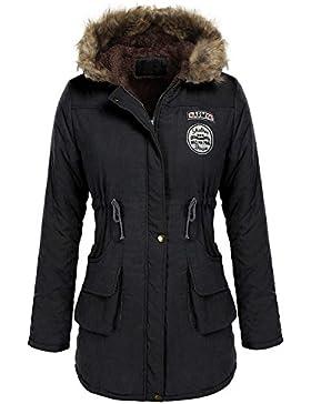 Minetom Mujer Invierno Parkas Abrigos con Capucha Chaquetas Manga Larga Militar Acolchado Largos Sudaderas Jacket...