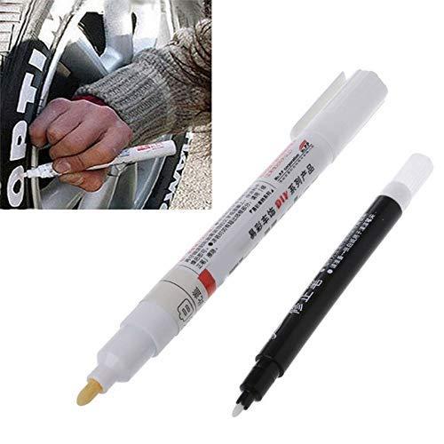 Coomir 2pellicole Universale Tyre Pen Colore Graffiti personalità Penna Modifica garrapata Tire Pennarelli
