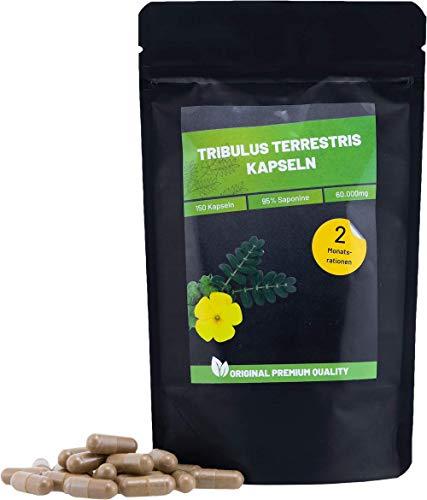 Tribulus Terrestris Kapseln mit 95% Saponinen | 150 Kapseln | Booster für Muskelaufbau & Libido | Premium Qualität aus Deutschland