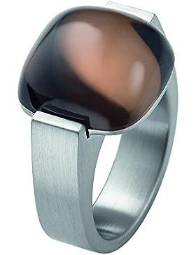 XEN Ring mit 15x15mm großen Rauchquarz Cabochon