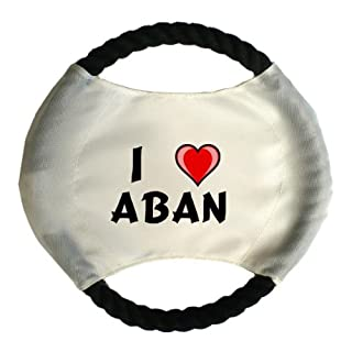 Personalised dog frisbee with name: Aban (first name/surname/nickname)