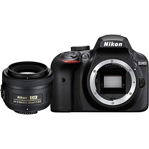 Nikon D3400 + AF-S DX NIKKOR 35mm f/1.8G Juego de cámara SLR 24.2MP CMOS 6000 x 4000Pixeles Negro - Cámara Digital (24,2 MP, 6000 x 4000 Pixeles, CMOS, Full HD, 395 g, Negro)